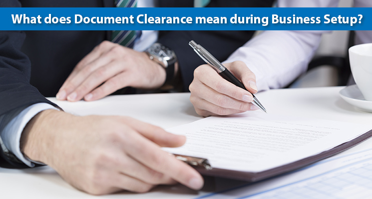 What does Document Clearance mean during Business Setup?
