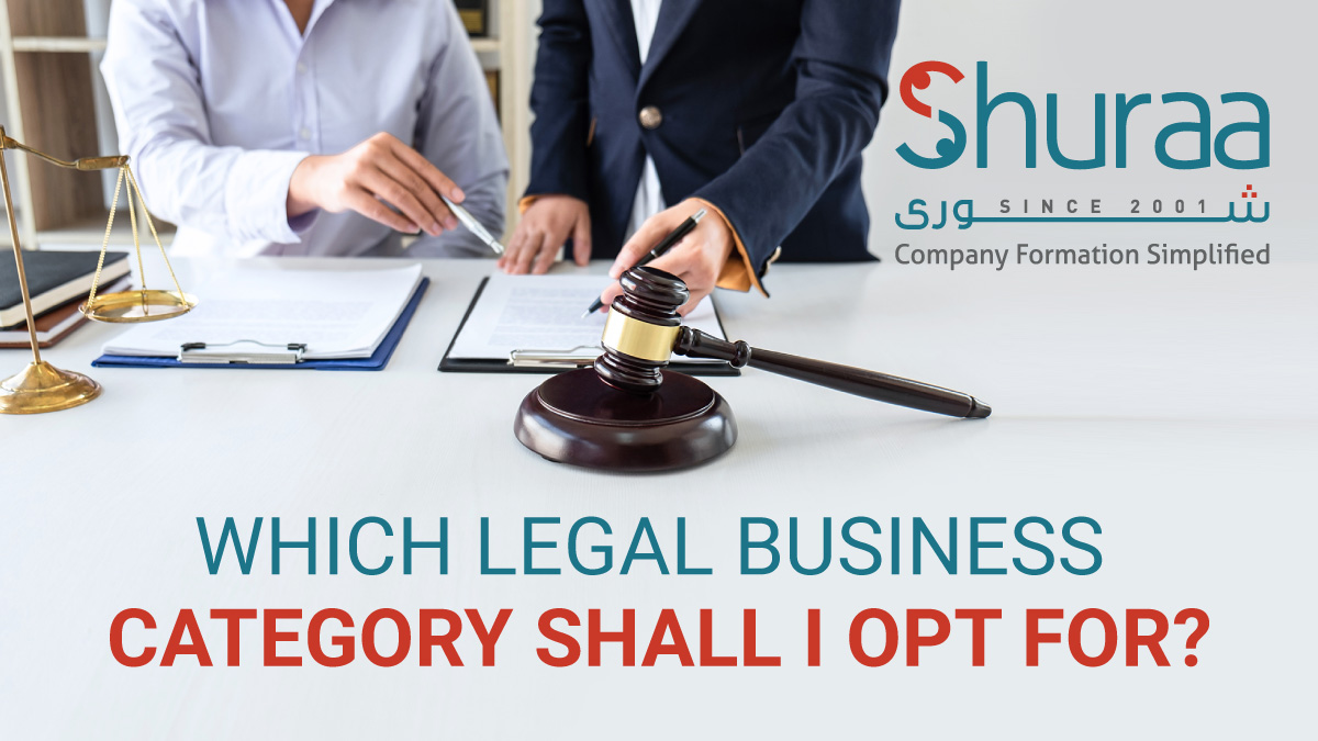 which legal business category shall i opt for