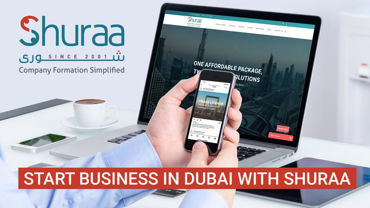 Start business in Dubai with Shuraa