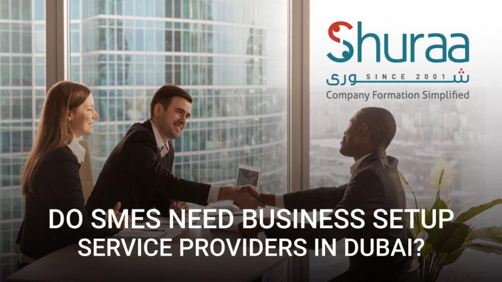 Do SMEs need business setup service providers in Dubai?