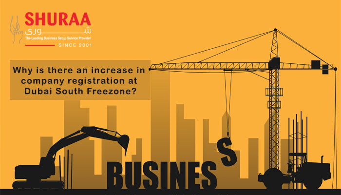 Why is there an increase in company registration at Dubai South Free zone?