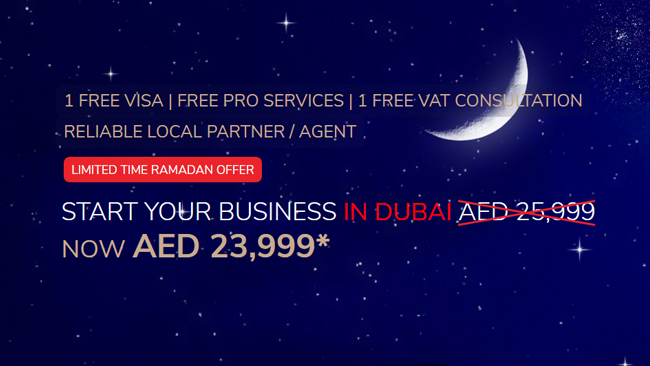 START YOUR BUSINESS IN DUBAI NOW AED 23,999*