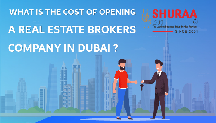 What is the cost of opening a real estate brokerage in Dubai?