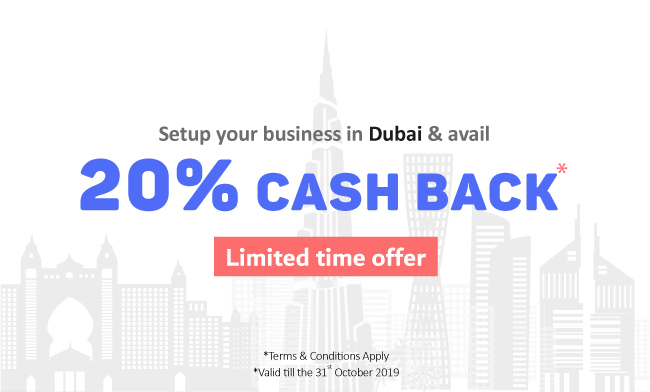 Start your company in Dubai with SHURAA and avail  20% CASH BACK*