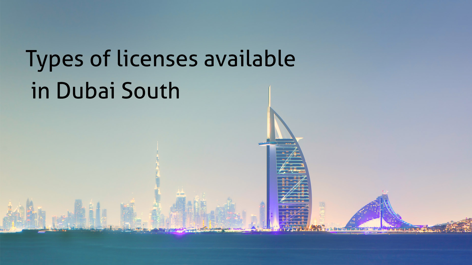 Types of licenses available in Dubai South