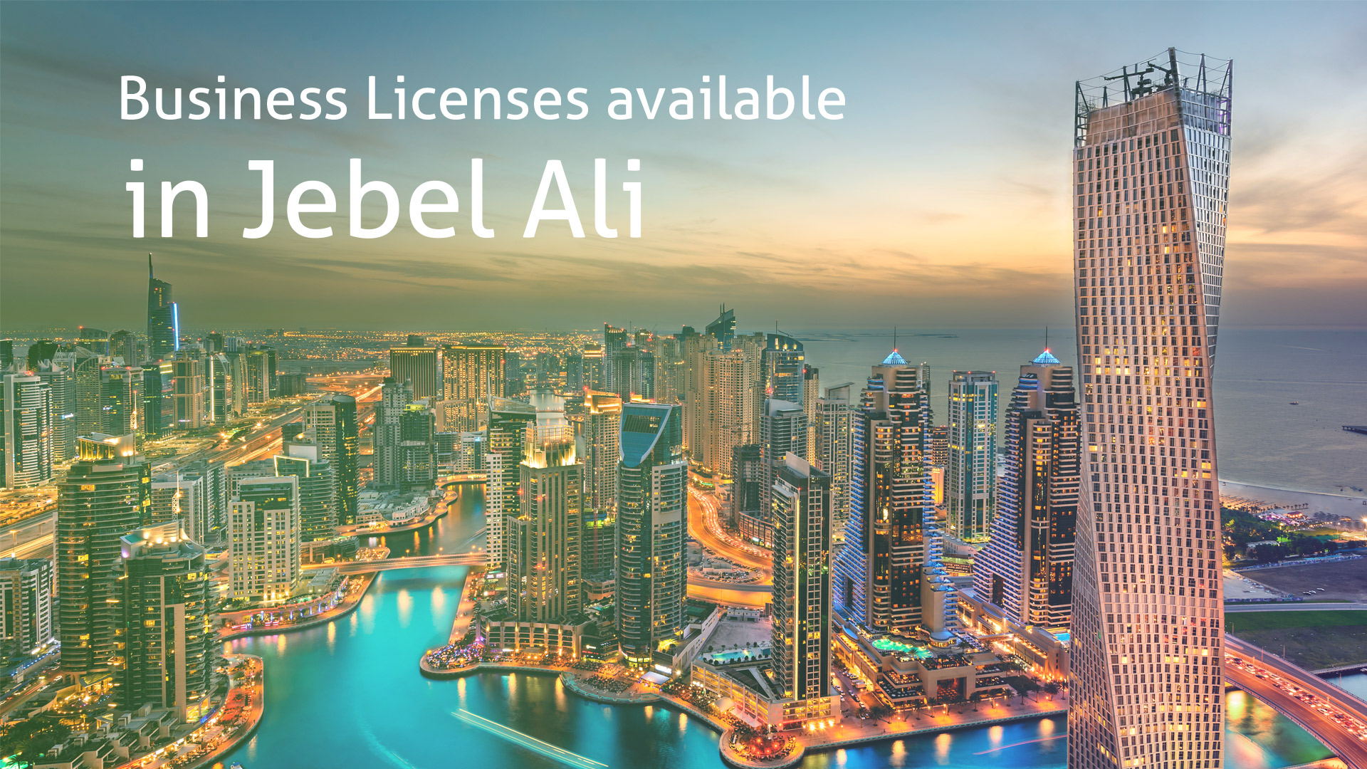Business Licenses available in Jebel Ali Free zone