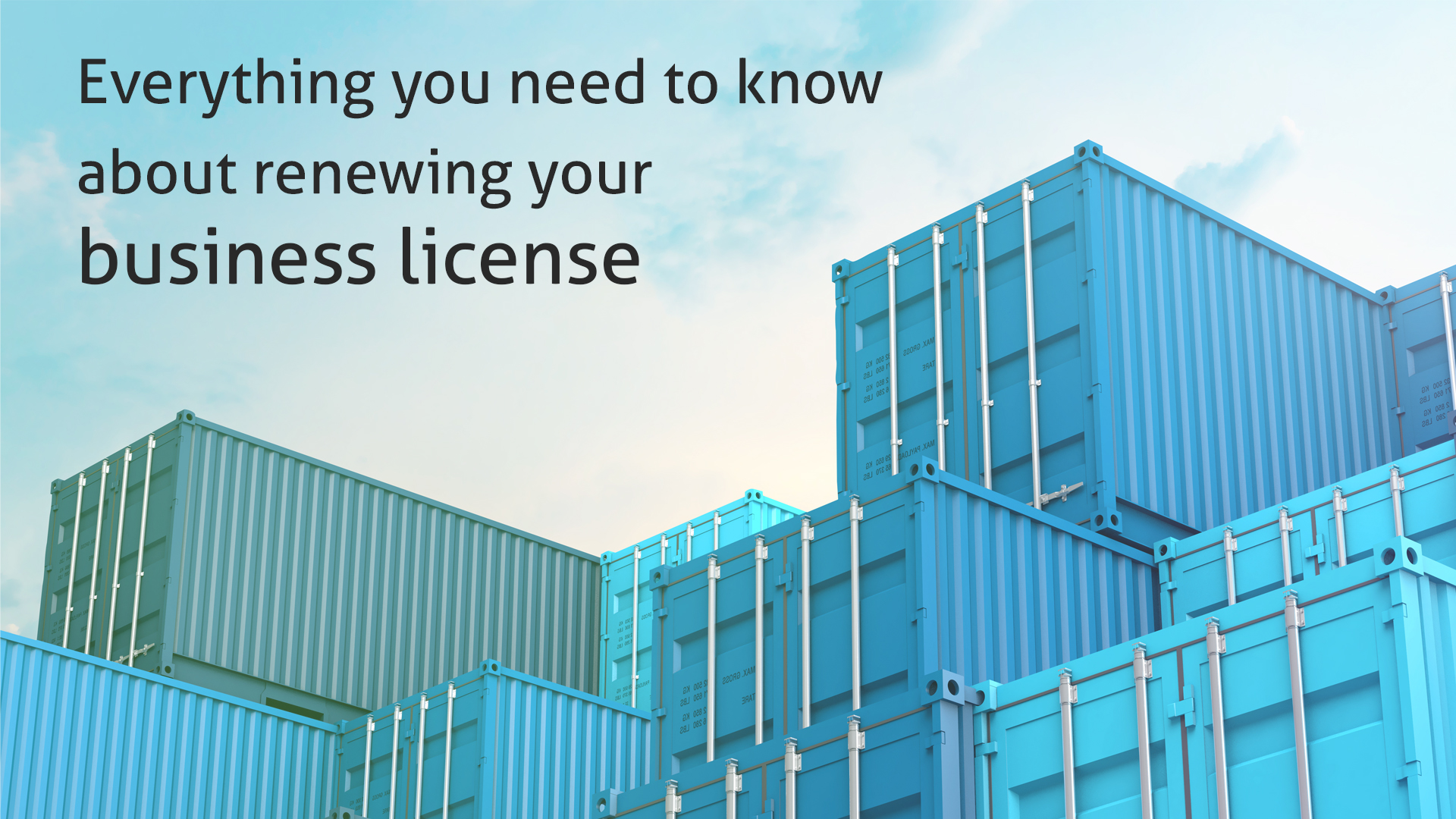 Everything you need to know about renewing your business license