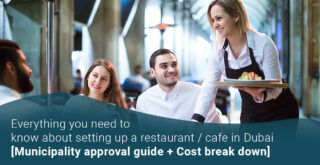 what is the cost of opening a cafeteria in dubai